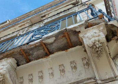 Désordres affectant les balcons